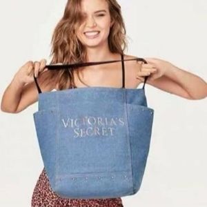 Victoria Secret oversize tote denim bag